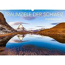 TRAUMZIELE DER SCHWEIZ Impressionen (Wandkalender 2019 DIN A3 quer): Die Schweiz in faszinierenden Aufnahmen. (Monatskalender, 14 Seiten ) (CALVENDO Orte)