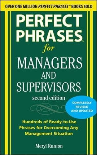 Pdf Epub Perfect Phrases For Managers And Supervisors 2nd Edition