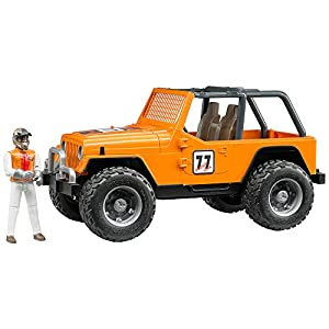 BRUDER 02542 modelo de vehículo de tierra Previamente montado Modelo a escala de coche todoterreno 1:16 - Modelos de vehículos de tierra (Previamente montado, Modelo a escala de coche todoterreno, 1:16, Jeep Cross, Acrilonitrilo butadieno estireno (ABS), 4 año(s))