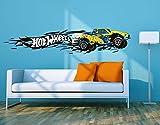 Klebefieber Wandtattoo Hot Wheels Yellow Fire B x H: 100cm x 20cm