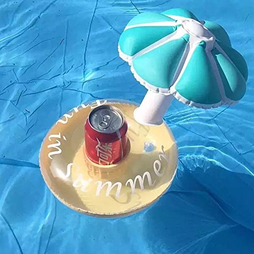 Zantec Aufblasbarer Pool Float Drink Holder Lovely Mushroom Shape Cup Halter für Kinder Bad Pool (Das Themen Party Kostüm Beste)