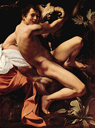 Das Museum Outlet - St. John the Baptist by Caravaggio - A3 Poster