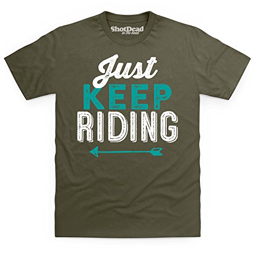 Just Keep Riding T-Shirt, Herren Olivgrn