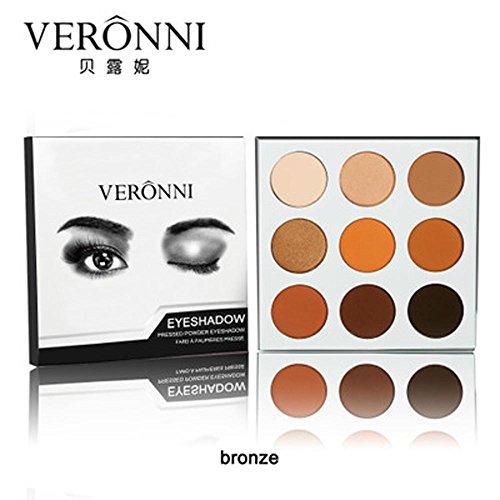 Siswong 9 couleurs Matte coloré de maquillage Correcteur Contour Palette (A)