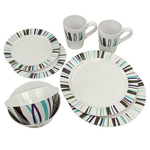 10T-Arve-Dinnerware-8-teiliges-Melamine-Geschirr-2-Becher-4-Teller-in-2-Gren-2-Schsseln