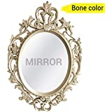TIED RIBBONS Vintage Antique Style Home Decorative Wall Mirror for Bedroom Home Décor Living Room Bathroom(58 cm X 38 cm, Plastic Framed Mirror)