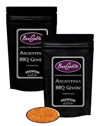 Argentina Grillgewürz - Barbecue (BBQ) Gewürzmischung | BenCondito | 2 Stück Aromabeutel 80 Gramm