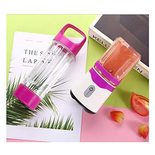 Licuadora Portátil USB,Mini Batidora de Vaso para Fruta, con 6 Cuchillas,USB Fruit Juicer Cup Personal,para Fruta, Verdura, Smoothies, Milkshake(350ml),Purple