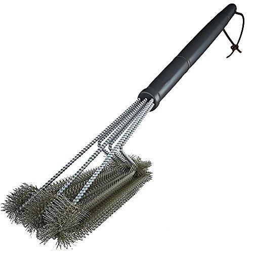 Gosear - 3 en 1 Cepillo de Parrilla Limpieza de Acero Inoxidable / Accesorios Limpiador de Herramientas para Rejillas de Barbacoa BBQ