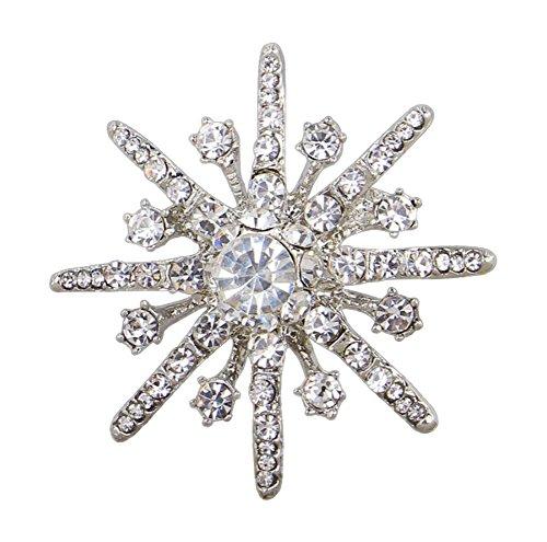 rosche Mantel Pullover Brooch Nadel Weihnachten Brosche Schneeflocke Geburtstag Geschenk Pin Kleidung Zubehör Dekoration (Mantel Dekorationen Für Weihnachten)