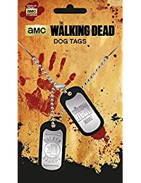 The Walking Dead Dog Tag Walker mit Kette, silberfarben aus Metall