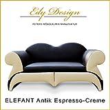 Perros sofá elefante Lux XL Antiguo Espresso de 2Ton