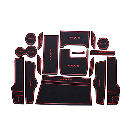 pour Honda Civic 10 16-18 Anti Slip Porte Groove Porte Fente Pad Mat Car Kit antidérapante Coupe Tapis Décoration Regard