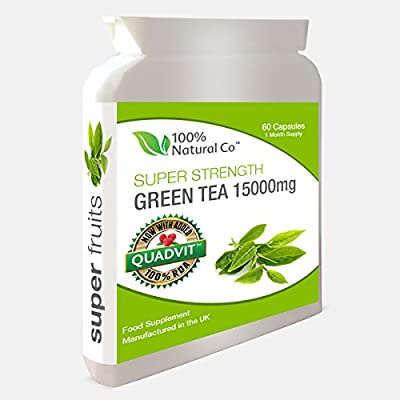 Green Tea Capsules 100% Natural Co Super Strength from 100% Natural Co.