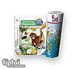 Ravensburger tiptoi ® Buch - Entdecke den Regenwald + Kinder Weltkarte - Länder, Tiere, Kontinente