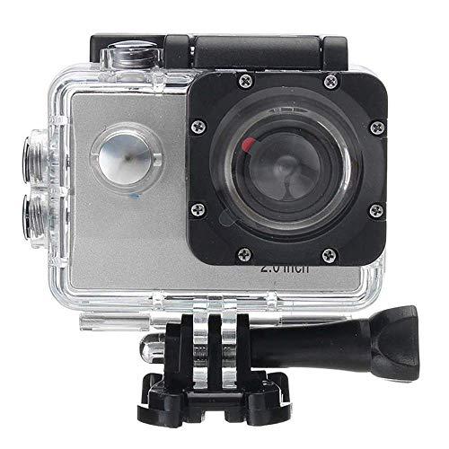 1080P Sport Action Kamera Ultra HD WiFi 4 Karat 2 Zoll LCD Display DVR Video Camcorder, 30 Mt DV Wasserdichte Tauchen Camcorder, 170 Grad Weitwinkel für Tauchen Radfahren Wandern Adventurer,Chrome