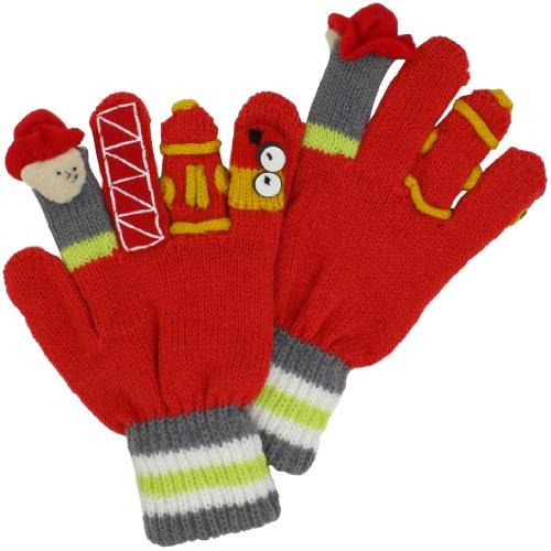 Kidorable Original Gebrandmarkt Feuerwehrmann Handschuhe für Mädchen, Jungen, Kinder - Klein (Stricken Magie Handschuhe)
