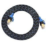 Asiproper Ethernet-Kabel, RJ45, Cat7, Flachkabel, für Router und Switch 2 m