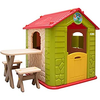 Littletom Childrens Playhouse Incl 1 Table 2 Benches For