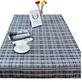 Simple Cotton Hemp Table Cloth, Coffee Table Covered Towel Tablecloth, Multi-Size Blue Stripes