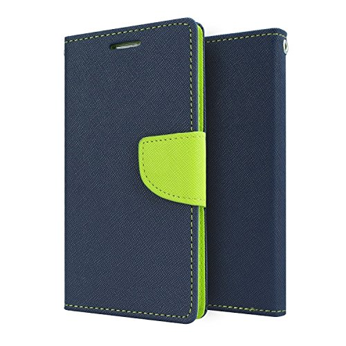 Kapa Mercury Goospery Wallet Flip Case Cover for Micromax Yu Yureka AQ5510 - Blue/Green