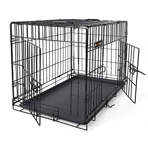SONGMICS Cage pour Chien 2 Portes Pliable et...