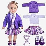 Puppe Kleidung College Wind Outdoor Casual Wear für 18 Zoll amerikanische Puppe und andere 43-46cm Puppen