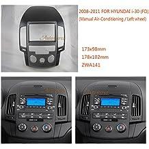 autostereo 11–141Hyundai Marco de Instalación para radio de coche Hyundai i30(FD) 2008–2011Manual Aire Acondicionado Izquierda Rueda Radio de coche estéreo Soporte Marco