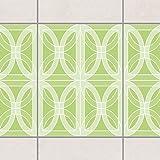 Fliesen Bordüre - Kreisförmiges Fliesendesign Spring Green 20cm x 15cm, Setgröße:20teilig