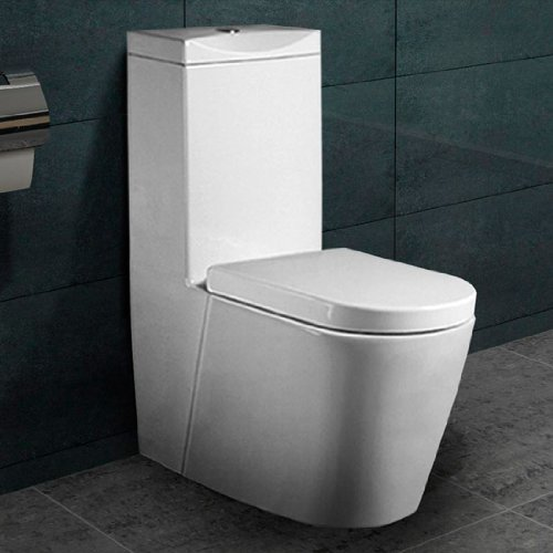 Preisvergleich Produktbild Lux-aqua Stand WC Nano Beschichtu ng SoftClose A380