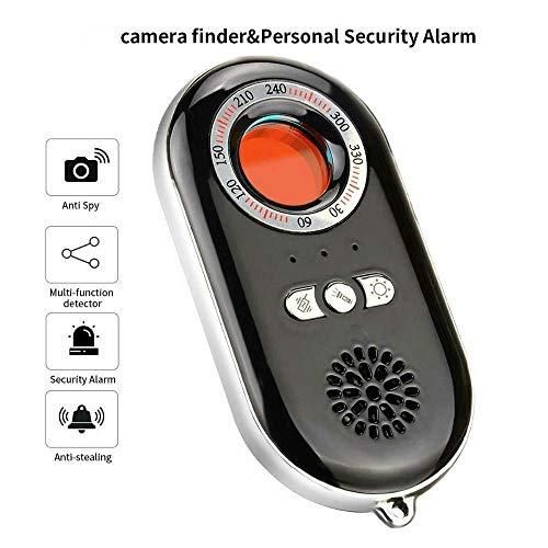 Tragbarer Infrarotdetektor, 3-in-1-Funktionalität, einschließlich Anti-Spion-Detektor für versteckte Kameras, Notfallalarm zur persönlichen Alarmabwehr,LED-Taschenlampe für Reise- und Hotelsicherheit