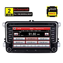 7 pollici Car stereo doppio din navigatore satellitare per VW MK5 MK6 Golf Passat Jetta Skoda Polo supporto GPS Navigazione CD DVD Bluetooth USB SD Radio RDS controllo del volante Canbus Video 16G Map