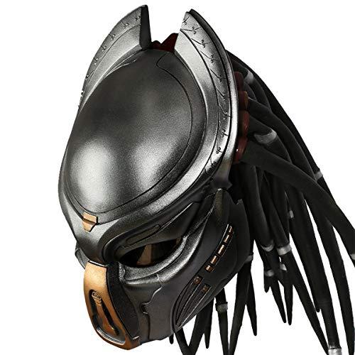 Predator Máscara Casco Moto Alien Mask Con LED&Peluca