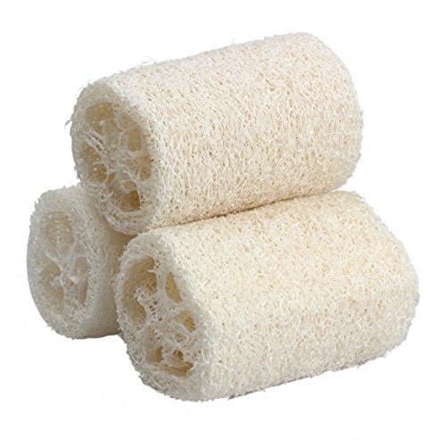 Milopon 3X Luffaschwämme Luffa Gurke Schwamm der Naturfaser Bad Körper Dusche Schwamm Wäscher Size 12CM