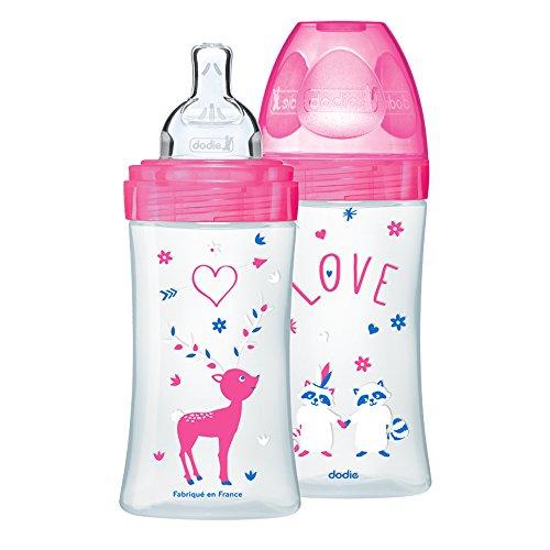 DODIE biberons anti colique  Sensation+ 270ml FUSHIA LOVE 0 - 6 mois...
