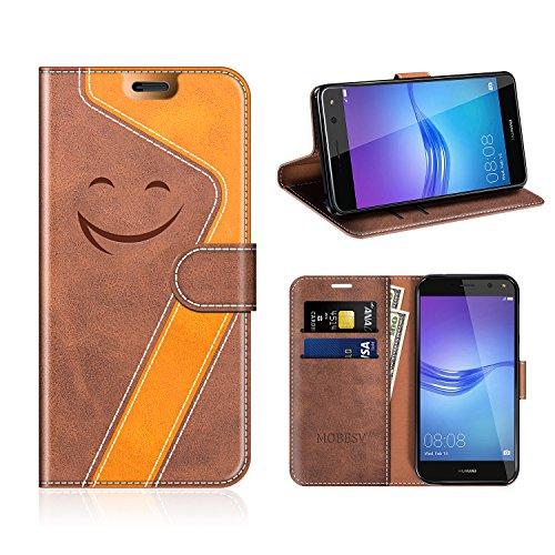 Mobesv Smiley Custodia in Pelle/Portafoglio Cover per Huawei Nova...