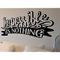 Imposible es nada – Gimnasio Correr Deporte Crossfit para entrenamiento gimnasio Fitness motivación cita de pared