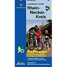 Rhein-Neckar-Kreis: Radtouren zwischen Rhein, Neckar, Kraichgau und Odenwald (Landkreiskarte)