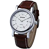 Zeiger Stainless Steel Case Brown Leather Men's Watch W306