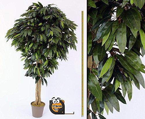 Künstlicher Mangobaum mit 1360 Blätter mit 175cm in Premium Qualität