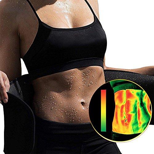 KINDAX Fascia Dimagrante Cintura Addominale per Dimagrire, Brucia Grassi e Fa Sudare, Taglia Unisex Dimensione Regolabile per Uomo e Donna