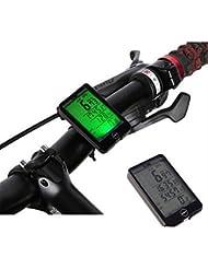 Multi Fonctions résistant à l'eau lumineux Wiredless Sensor ordinateur de vélo Compteur de vitesse Odomètre Chronomètre