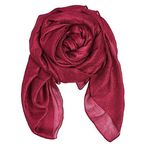 QBSM Donna Wraps di grandi dimensioni morbide sciarpe di lino f626c6059ac