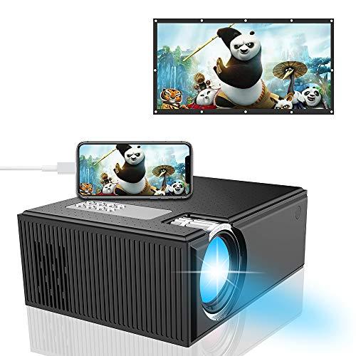 Smart Beamer, iBosi Cheng Full HD 1080P Beamer, LCD Mini Projektor Multimedia Heimkino Filmprojektor Unterstützung HDMI VGA USB AV SD Verbunden mit Laptop Smartphone Xbox für Movie Game Party