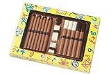 07#121318 Schokolade Schulstifte, Einschulung, Schule, Ferien, Tortenverzierung, Schokoladen, Torte,