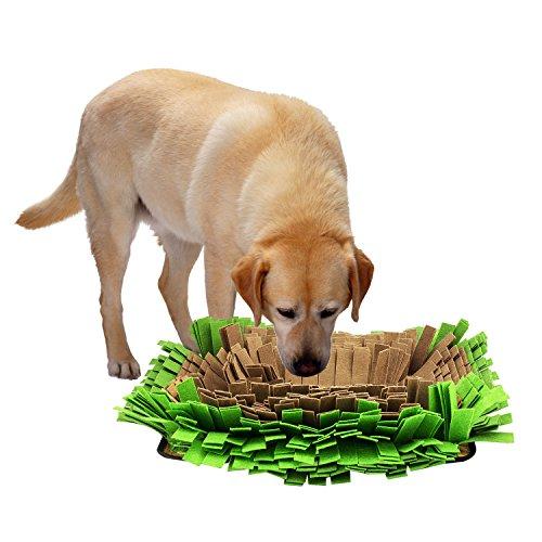 Pawaboo-Tapete-para-perrosCama-de-manta-para-perroEsterilla-para-mascota-Tazn-de-Comida-para-Mascotasalfombrilla-de-perro-plegable-para-aprendizajeMarrn-y-Verde