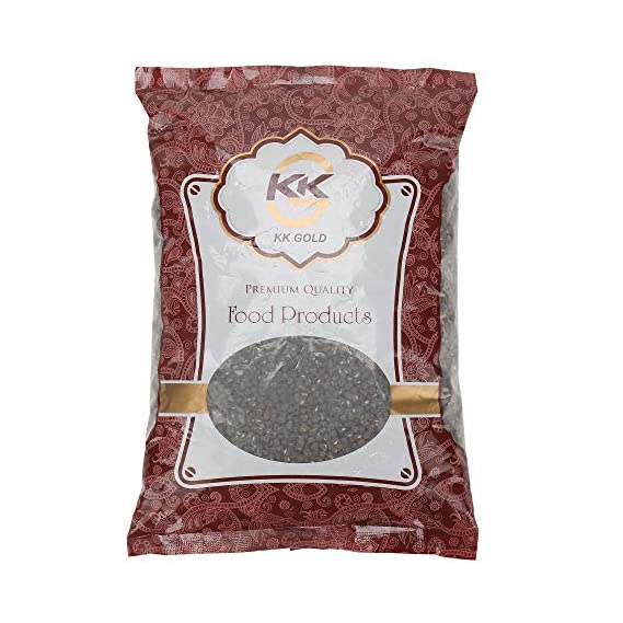 K K GOLD Premium Quality Black Urad Whole, 500 Gram
