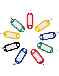 Travezo Schlüsselanhänger, Schlüsselschilder mit Etiketten, Schlüssel ID, Mehrfarbig, 10, 20, 30 Stück, zum Beschriften