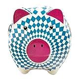 ebos Sparschwein aus Keramik | Bayern Raute | Spardose | Sparbüchse (Herzl/Spatzl)