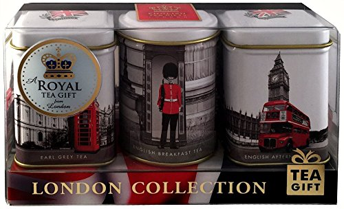 "English Teas in Mini Caddies – ""London Collection"", 3 x 25g Mini Tea Caddies …'"